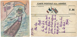 CPFM 25/2/1940 ILLUSTREE PAR LE MILITAIRE RETAILLEE - 1921-1960: Periodo Moderno