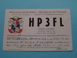 Republica De PANAMA > HP3FL Frank Linares > WOZEP > USA Colorado 1953 ( See / Voir Photo ) - Radio Amatoriale