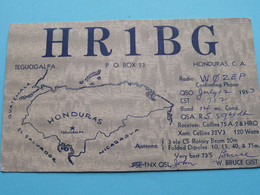 "HR1BG - HONDURAS Tegucigalpa ""W. Bruce Gist"" > WOZEP > USA Colorado 1953 ( See / Voir Photo ) - Radio Amatoriale"