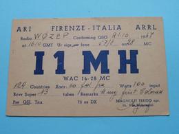 I1 MH - Firenze ITALIA Magnolfi Ferido > WOZEP > USA Colorado 1947 / Milano/Caledonia ( See / Voir Photo ) - Radio Amatoriale