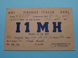 I1 MH - Firenze ITALIA Magnolfi Ferido > WOZEP > USA Denver 7 Colorado 1947 ( See / Voir Photo ) - Radio Amatoriale