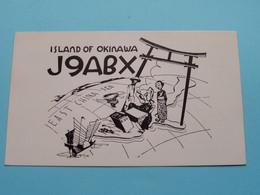 J9ABX Island Of OKINAWA > WOZEP > USA San Francisco Bill BAXTER 1947 ( See / Voir Photo ) - Radio Amatoriale