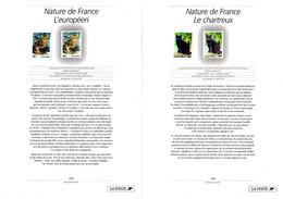 """"""" CHATS / EUROPEEN / CHARTREUX """" Sur LOT (2 Timbres Neufs ** MNH + 2 Notices D'info) De 1999 N°YT 3283 84 Parfait état - Chats Domestiques"""