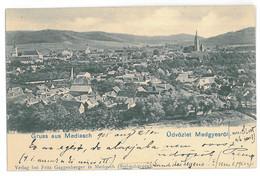 RO 03 - 15993 MEDIAS, Sibiu, Panorama, Litho, Romania - Old Postcard - Used - 1905 - Rumania