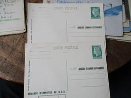 Lot De 2 Tsc Bureau Expertise Automobile Demande Expertise Entier Postal - Cartoline Postali E Su Commissione Privata TSC (ante 1995)