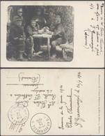 Carte Photo (militaria) - Souvenir De La Guerre 1914 'S Gravenwezel (obl Relais) > Tournai / Groupes De Militaires. - Characters