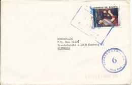 Bolivia Cover Sent To Germany 11-8-1990 ?? Single Franked - Bolivia