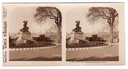 Photo Stéréoscopique Vues D'Italie - S.125 1096 - Rome - Monument Des Frères Cairoli - Stereoscopic