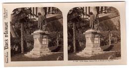 Photo Stéréoscopique Vues D'Italie - S.136 1278 - Rome - Statue Cola Di Rienzo Au Capitole - Stereoscopic