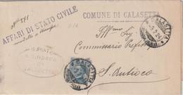 Calasetta. 1924. Annullo Guller CALASETTA (CAGLIARI) + Ovale SINDACO, Su Lettera Per S. Antioco - Marcophilie