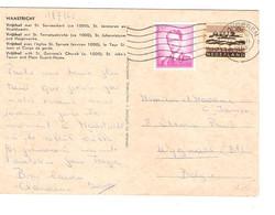 REF2034/ TP NL 10c + TP R4 Baudouin Lunettes S/CP Maastricht Vrijthof C.Tongeren 12/7/1965 > Wijgmaal (Bt) - Belgium