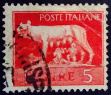 Italie Italy Italia 1944 Tirage De Rome Emissione Di Roma Filigrane Roue Ailée Yvert 476 O Used Usato - Gebraucht