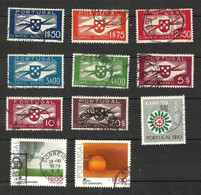 Portugal Poste Aerienne N°1 à 3, 5 à 7, 9, 11 à 13 Cote 29.00 Euros (4 Légèrement Fendu Offert) - Used Stamps