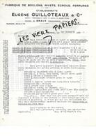 08 - Ardennes - BRAUX - Facture GUILLOTEAUX - Fabrique De Boulons, Rivets, écrous, Ferrures - 1931 - REF 169A - 1900 – 1949