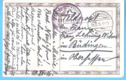 Militaria-Guerre 1914-1918-Brief-Stempel-Kriegsgefangenen Arbeits-Batl.46-Prisonnier De Guerre-K.D.Feldpoststation-1916 - Weltkrieg 1914-18