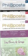 3 Catalogues Philaposte   Années  2019/2020     N° 85 - 86 - 87 - Documenten Van De Post