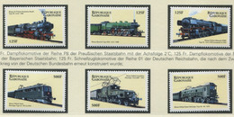 GABUN / MiNr. 1554 - 1559 / Lokomotiven Aus Aller Welt (II) / Postfrisch / ** / MNH - Trenes