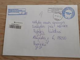 Lithuania Litauen Cover Sent From Vilkaviskis To Pagegiai  2012 Taxe Percue - Lithuania