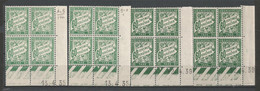 FRANCE TAXE ANNEE 1893/1935 N°38x4 BLOC DE 4 EX COIN DATE NEUFS** MNH TB COTE 42 € REMISE-90% - 1930-1939