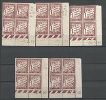 FRANCE TAXE ANNEE 1893/1935 N°40Ax5 BLOC DE 4 EX COIN DATE NEUFS** MNH TB COTE 70 € REMISE-90% - 1930-1939