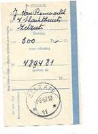 LE 1014. Coupon De Versement AGENCE ZELZATE * 11 * 1.2.57 - 300 Fr. TB - Sellos Con Estrellas
