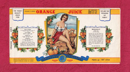 Etichetta Nuova-brand New Label-etiquette Neuf, Orange Juice, Ferdinando Briguglio, Messina. First Half Of 900's. - Autres