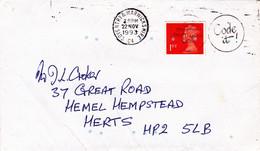 Conventry Warwickshire C4 1993 Queen Elisabeth 1ST Letter - Cartas