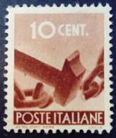 Italie Italy Italia 1945 Yvert 481 ** MNH - 1946-60: Nieuw/plakker