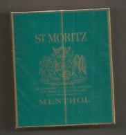 Ancien Paquet De Cigarettes , Complet , Scéllé, ST. MORITZ , Menthol , Frais Fr 3.15 E - Zigarettenzubehör