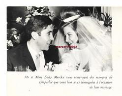 Eddy Merckx - Remerciement Pour Son Mariage  ( Fhoto Glacée ) 15 X 10 - Ciclismo