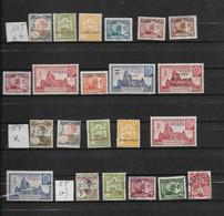 KOUANG TCHEOU -22 TRES BEAUX TIMBRES DONT 11 NEUFS * * 6 NEUFS * ET 5 OBLITERES -DEPUIS 1908 - Unused Stamps