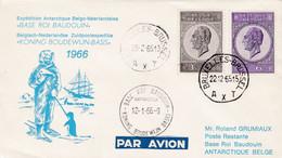 Enveloppe Par Avion 1349 1350 Sabena Base Roi Baudouin Expédition Antarctique Belgo Néerlandaise - Belgium