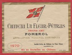 Etiquette - Vin - France - Pomerol - 1970 - Chateau La Fleur-Pétrus. - Other