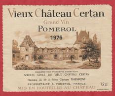 Etiquette - Vin - France - Pomerol - 1976 - Vieux Château Certan. - Other