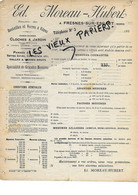 59 - Nord - FRESNES-SUR-ESCAUT - Facture MOREAU-HUBERT - Verrerie - 192? - REF  169B - 1900 – 1949