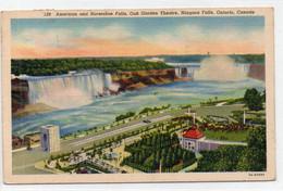 DC4313 - American And Horseshoe Falls Oak Garden Theatre Niagara Falls Ontario Canada - Ohne Zuordnung
