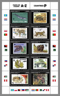 SIERRA LEONE 2020 MNH WWF Stamps On Stamps P-Countries P-Länder Pays P M/S - OFFICIAL ISSUE - DHQ2041 - Unused Stamps