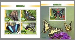 SAO TOME 2020 MNH Butterflies Schmetterlinge Papillons M/S+S/S - OFFICIAL ISSUE - DHQ2041 - Butterflies