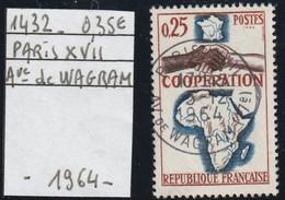 FRANCE  (1964 )  Oblitéré  N° 1432- Cachet Rond PARIS XVII -Ave De WAGRAM - REF 9762 - Used Stamps