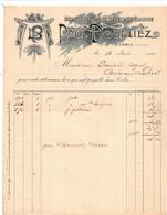 CORBIE (Somme) - Facture Illustrée - Manufacture De Gilets De Chasse - PAUL DOUBLIEZ - 1900 – 1949