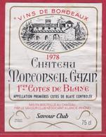 VIN - Etiquette - Bordeaux -1978 - Château Monconseil Gazin - Côtes De Blaye, - Other