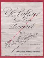 VIN - Etiquette - Pomerol -1974 - Château Lafleur - Brrrrrrr , - Other