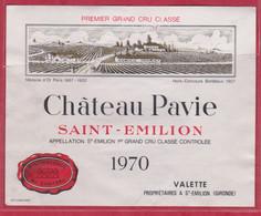 VIN - Etiquette - Saint-Emilion -1970 - Château Pavie - Brrrrrrrrrrr. - Other