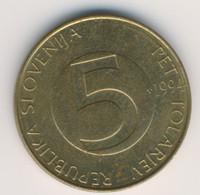 SLOVENIA 1994: 5 Tolarjev, KM 6 - Slovenia