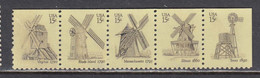 USA 1980 - Wind Mills, Strip Of 5 Stamps, MNH** - Estados Unidos