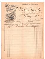 TOULOUSE - Facture Illustrée - Fabrique Spéciale De Cannes à Pêche - CHAISES & VANNERIE - Victor NAUDY - 1900 – 1949