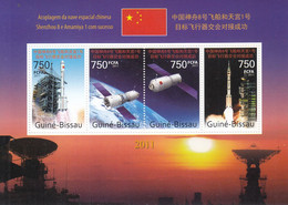 Guinea-Bissau 2011 China Shenzhou VIII Dock With Tiangong-1 S/S - Raumfahrt