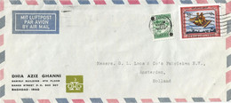 Iraq 1970 Baghdad Flying Carpet Tourism Postal Tax Overprint Scott RA12 Censor Cover - Iraq