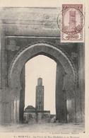 Carte Postale. Maroc Meknès. Porte De Ben Abdallah. Mosquée. Cachet 1922. Timbre Protectorat. - Islam