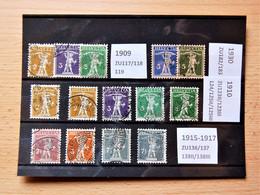 Suisse Switzerland - Fils De Tell 1909 1910 1915-17 1930 - Zonder Classificatie